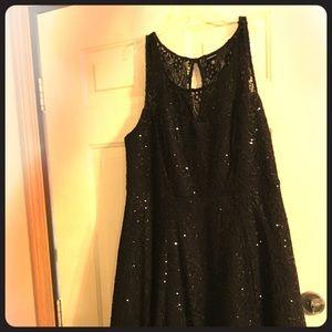 Torrid dark blue dress with sparkly sequins.